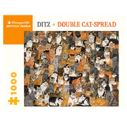 Pomegranate Pomegranate Ditz: Double Cat-Spread Puzzle1000pcs