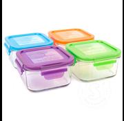 Wean Green Lunch Cube 16oz/480ml Garden Set 4pk