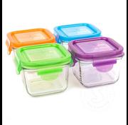 Wean Green Snack Cube 7oz/210ml Garden Set 4pk