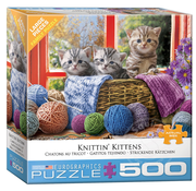 Eurographics Eurographics Knittin' Kitties Large Pieces Family Puzzle 500pcs