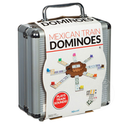 Toysmith Mexican Train Double 12 Colored Dominoes