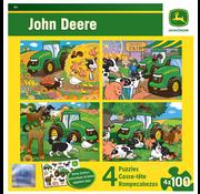 MasterPieces MasterPieces John Deere Puzzle  4 x 100pcs