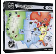 MasterPieces MasterPieces NHL Hockey Map Puzzle 500pcs