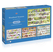 Gibsons Gibsons Woodland Seasons  Puzzle 4 x 500pcs