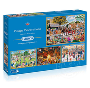 Gibsons Gibsons Village Celebrations Puzzle 4 x 500pcs