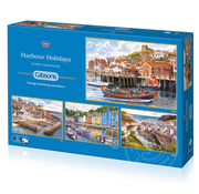 Gibsons Gibsons Harbour Holidays Puzzle 4 x 500pcs