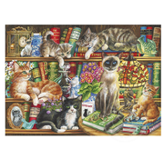Gibsons Gibsons Puss In Books Puzzle 1000pcs