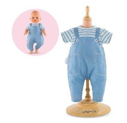"""Corolle Corolle Mon Premier Bebe Striped T-Shirt & Oeralls 12"""" Doll Outfit"""