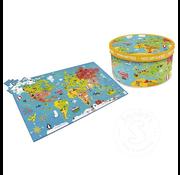Scratch Europe World Map XXL Puzzle 150pcs