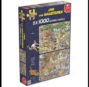 Jumbo Jumbo Safari and The Storm Puzzle 2 x 1000pcs