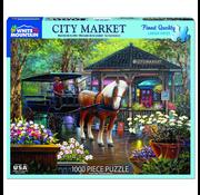 White Mountain Puzzles White Mountain City Market Puzzle 1000pcs
