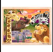Melissa & Doug Melissa & Doug African Plains Wooden Tray Puzzle 24pcs