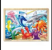 Melissa & Doug Melissa & Doug Under the Sea Wooden Tray Puzzle 24pcs