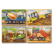 Melissa & Doug Melissa & Doug Construction Wooden Jigsaw Puzzles 4 - 12pcs in a Box
