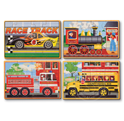 Melissa & Doug Melissa & Doug Vehicles Wooden Jigsaw Puzzles 4 - 12pcs in a Box