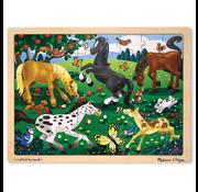 Melissa & Doug Melissa & Doug Frolicking Horses Wooden Tray Puzzle 48pcs
