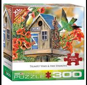 Eurographics Eurographics Trumpet Vine & Tree Sparrows XL Family Puzzle 300pcs