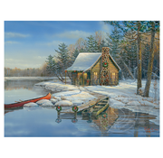 Cobble Hill Puzzles Cobble Hill Winter Cabin Easy Handling Puzzle 275pcs