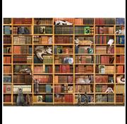 Cobble Hill Puzzles Cobble Hill The Cat Library Puzzle 1000pcs