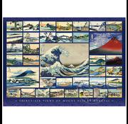 Cobble Hill Puzzles Cobble Hill Thirty-Six Views of Mount Fuji by Hokusai Puzzle 1000pcs