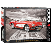 Eurographics Eurographics Driving Down Route 66 Puzzle 1000pcs