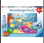 Ravensburger Ravensburger Vibrance Under the Sea Puzzle 2 x 24pcs