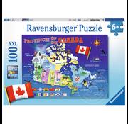 Ravensburger Ravensburger Map of Canada Puzzle 100pcs XXL