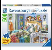 Ravensburger Ravensburger Cat Nap Large Format Puzzle 500pcs