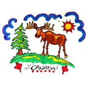 Artburn Pillow Case Painting Kit - This is Canada (Moose)