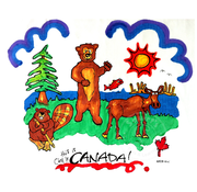 Artburn Pillow Case Painting Kit - This is Canada (Animals)