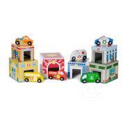 Melissa & Doug Melissa & Doug Nesting & Sorting Buildings & Vehicles