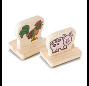 Melissa & Doug Melissa & Doug My First Wooden Stamp Set - Farm Animals