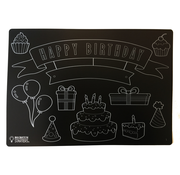 Scribbles Chalkboard Happy Birthday Placemat _