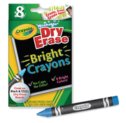 Crayola Dry Erase Bright Crayon pack of 8
