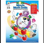 Carson Dellosa More Minute Math Drills Multiplication & Division Grades 3-6
