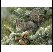 Cobble Hill Puzzles Cobble Hill Gray Squirrel Easy Handling Puzzle 275pcs