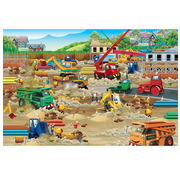 Cobble Hill Puzzles Cobble Hill Construction Zone Floor Puzzle 36pcs