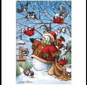 Cobble Hill Puzzles Cobble Hill Frosty's Feeds His Friends Floor Puzzle 36pcs