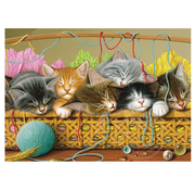 Cobble Hill Puzzles Cobble Hill Kittens in Basket Tray Puzzle 35pcs