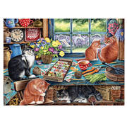 Cobble Hill Puzzles Cobble Hill Garden Shed Cats Tray Puzzle 35pcs