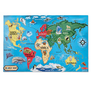 Melissa & Doug Melissa & Doug World Map Floor Puzzle 33pcs