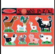 Melissa & Doug Melissa & Doug Farm Animals Sound Peg Puzzle