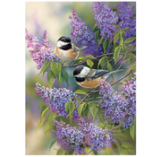 Cobble Hill Puzzles Cobble Hill Chickadees and Lilacs Puzzle 1000pcs