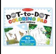 Melissa & Doug Melissa & Doug ABC 123 Dot-to-Dot Coloring Pad - Wild Animals
