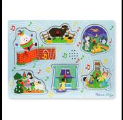 Melissa & Doug Melissa & Doug Sing-Along Nursery Rhymes 2 Sound Peg Puzzle