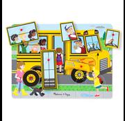Melissa & Doug Melissa & Doug Wheels on the Bus Sound Peg Puzzle