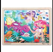 "Melissa & Doug Melissa & Doug Mermaid ""Fantasea"" Wooden Tray Puzzle 48pcs"