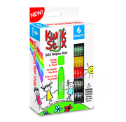 The Pencil Grip Kwik Stix Tempra Paint 6 Pack Primary