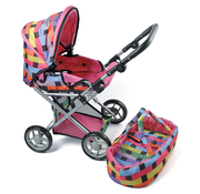 Triple Treat Pram Doll Stroller with Carry Cot