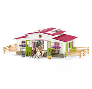 Schleich Schleich Riding Centre Stable with Rider and Horses